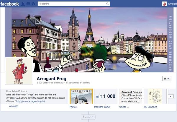 Facebook timeline arrogant frog
