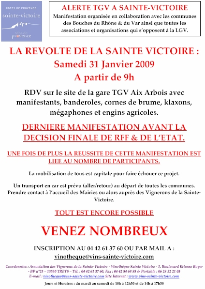 tract affiche manifestation