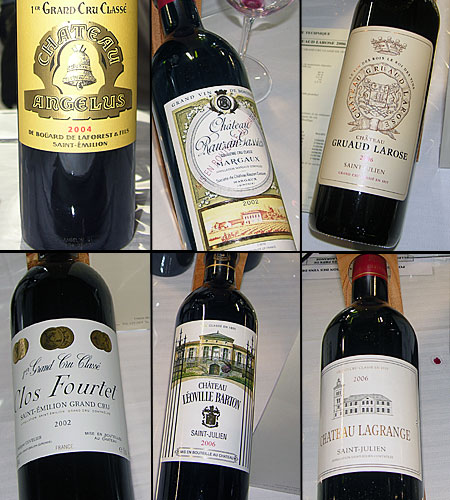 Collection de grands crus de bordeaux