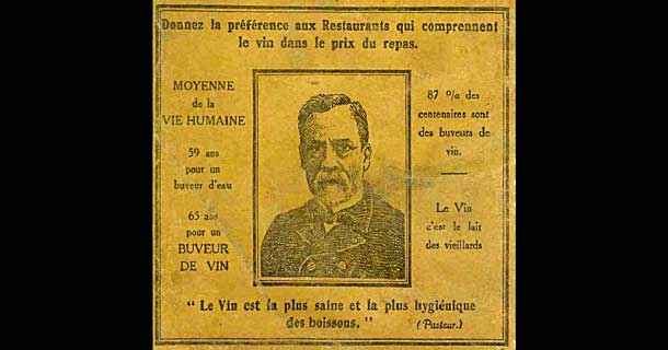 pasteur et le vin
