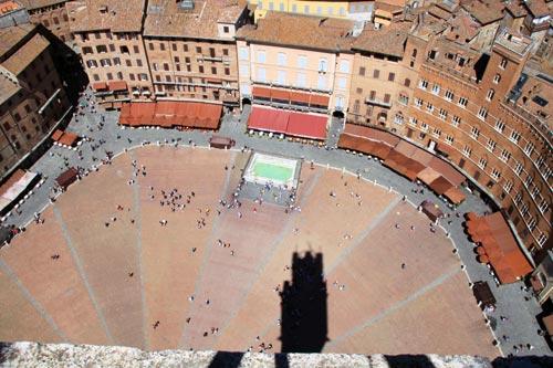 La place Il Campo vu d'en haut