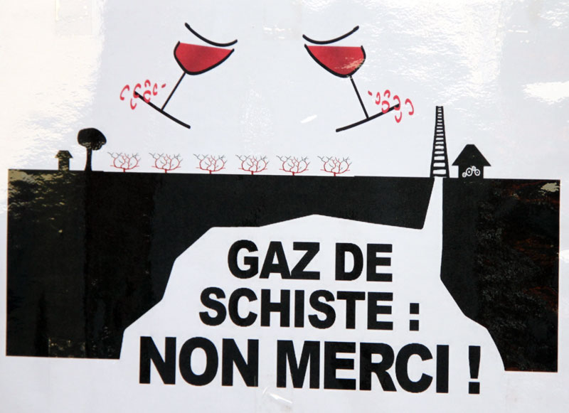 affiche gaz de schiste