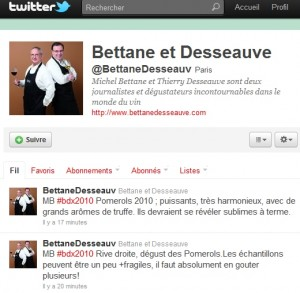 Profil Tweet Bettane &amp; Desseauve