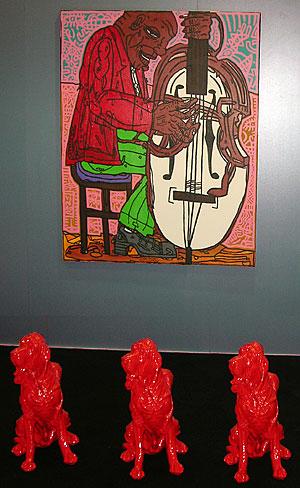 chien Vinexpo à Bordeaux expose l'art a des manières